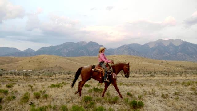 stockvideo's en b-roll-footage met snelle paarden rijden - cowboy