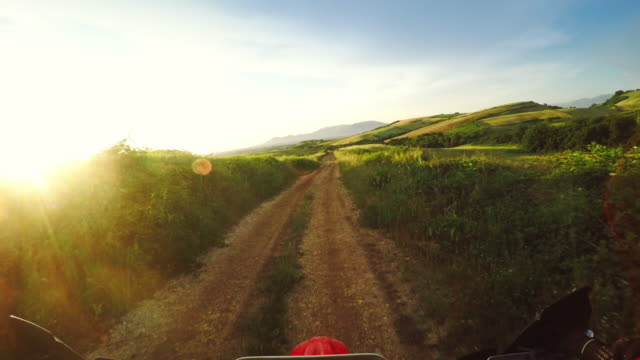 pov riding motocross enduro bike outdoor - wearable camera stock videos & royalty-free footage