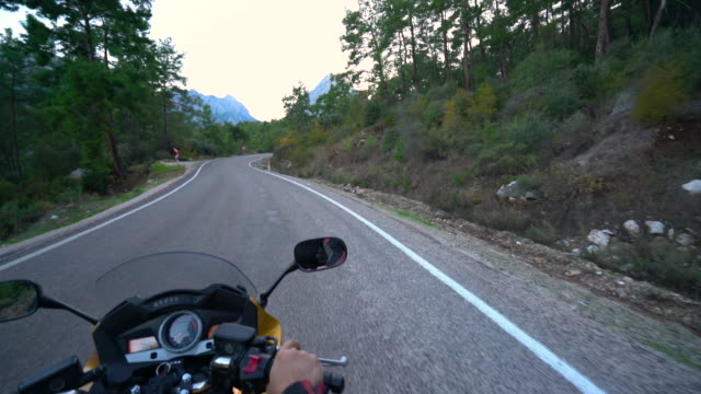 riding motorcycle 4k movie - ozgurdonmaz stock videos and b-roll footage