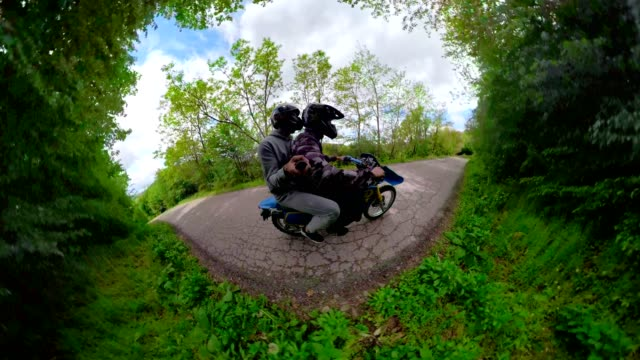 riding outside is a method of relaxation - 360 video stock videos & royalty-free footage