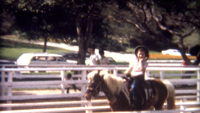 riding pony 1960's - horseback riding stock videos & royalty-free footage