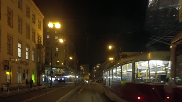 riding the tram in prague - tram stock videos & royalty-free footage