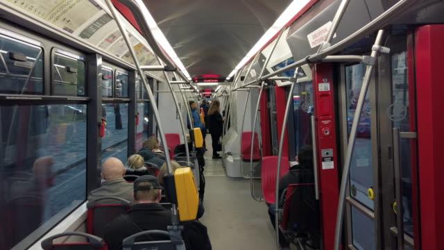 riding the tram in prague - czech republic stock videos & royalty-free footage