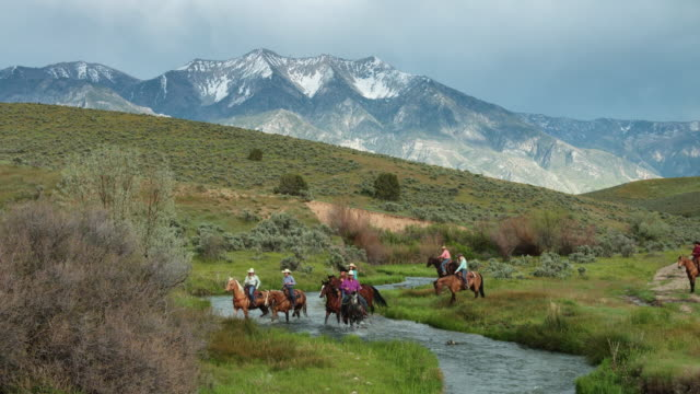 Riding Through a River in Utah