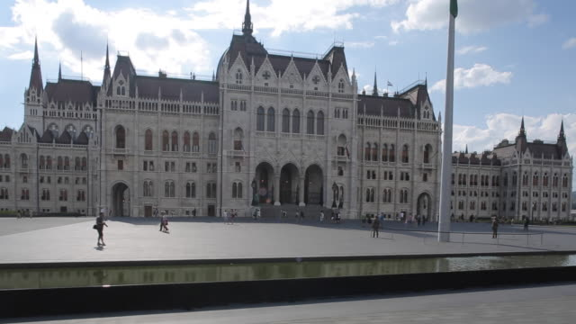 riding tram on danube riverside, budapest, hungary, europe - tram point of view stock videos and b-roll footage