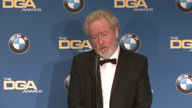 interview ridley scott at 69th annual directors guild of america awards in los angeles ca - directors guild of america awards stock videos & royalty-free footage