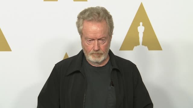 ridley scott at the 88th annual oscars® nominees luncheon at the beverly hilton hotel on february 08, 2016 in beverly hills, california. - リドリー・スコット点の映像素材/bロール