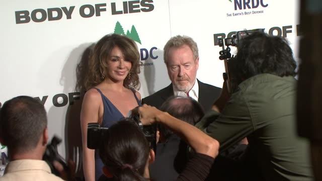 ridley scott at the body of lies - new york premiere at new york ny. - リドリー・スコット点の映像素材/bロール
