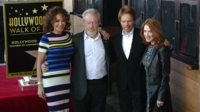 Ridley Scott Giannina Facio Jerry Bruckheimer and Linda Bruckheimer at Hollywood Walk Of Fame on November 05 2015 in Hollywood California