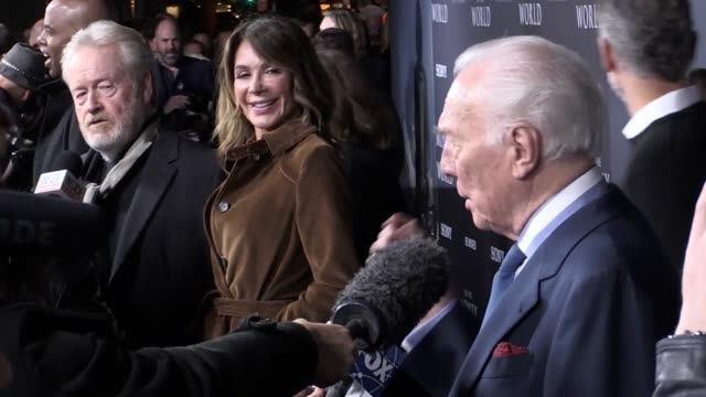 vídeos y material grabado en eventos de stock de ridley scott has said he will not be recuperating costs from kevin spacey after last-minute re-shoots to scrub the disgraced actor from all the money... - christopher plummer