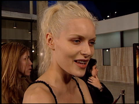 rie rasmussen at the 'femme fatale' premiere at the cinerama dome at arclight cinemas in hollywood california on november 4 2002 - femme fatale stock videos and b-roll footage