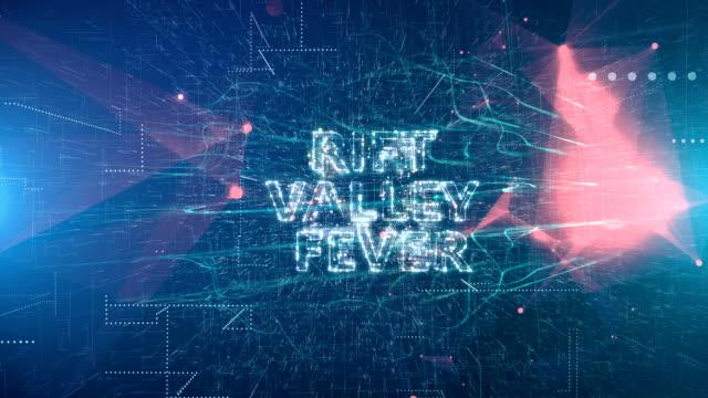 animazione del titolo rift valley fever - vettore della malattia video stock e b–roll