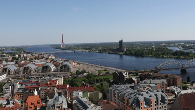Riga, high views of the city.