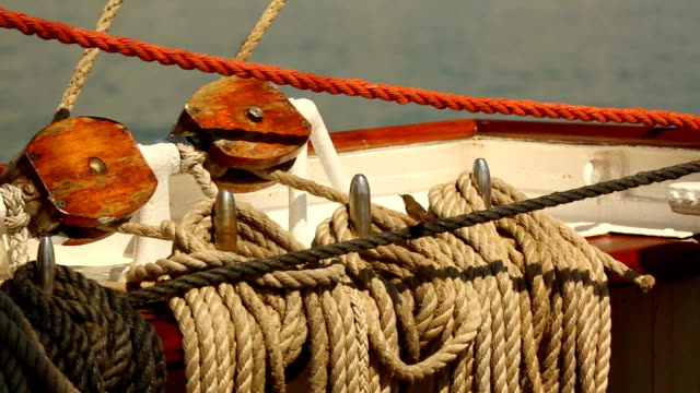 rigging of a sailing ship - rigging stock videos & royalty-free footage