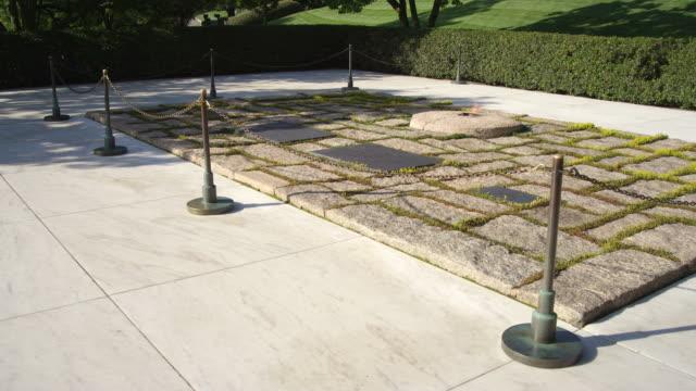 Right dolly of JFK gravesite in Arlington National Cemetery, Virginia. Shot in May 2012.