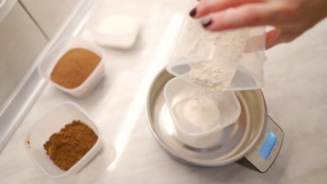 right measure of ingredients is important - flour stock videos & royalty-free footage