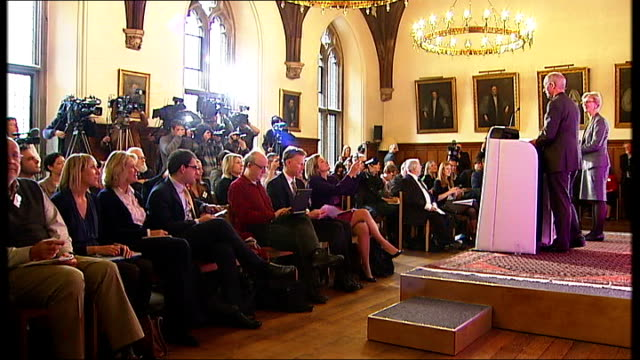 right reverend justin welby appointed as next archbishop of canterbury england london lambeth palace int right reverend justin welby into press... - ジャスティン・ウェルビー点の映像素材/bロール