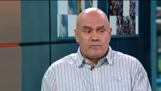 right said fred urge people to get tested for hepatitis c; england: london: gir: int phil spalding live studio interview sot richard fairbrass... - rnaウイルス点の映像素材/bロール