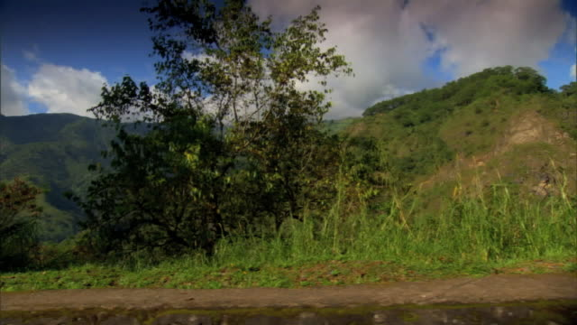 ws driving mountain kennon road mountains under low cloud cover beyond - luzon stock videos & royalty-free footage