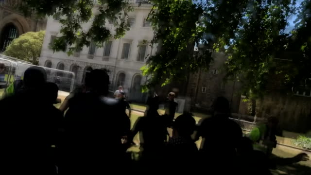 right wing protestors attacking police in central london - fighting stock videos & royalty-free footage