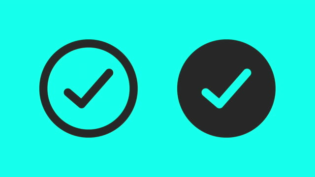 right & wrong check mark - vector animate - mistake stock videos & royalty-free footage