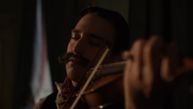 CU Rigo Janscy playing violin / Edinburgh, Scotland, United Kingdom