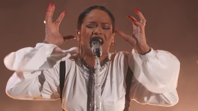 rihanna at 2016 global citizen festival in central park to end extreme poverty by 2030 at central park on september 24, 2016 in new york city. - 舞台芸術点の映像素材/bロール