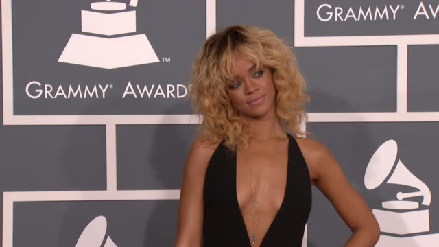 Rihanna at 54th Annual GRAMMY Awards Arrivals on 2/12/12 in Los Angeles CA