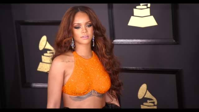 Rihanna at 59th Annual Grammy Awards Arrivals at Staples Center on February 12 2017 in Los Angeles California 4K