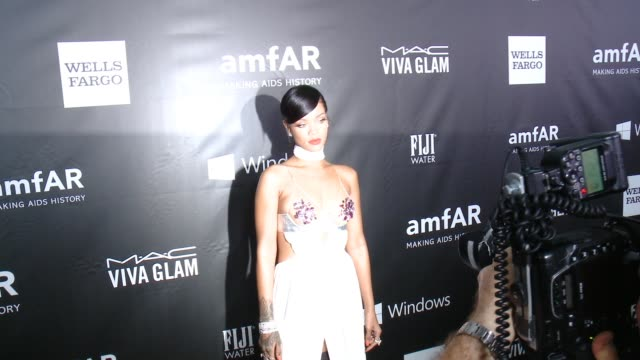 Rihanna at amfAR Inspiration Los Angeles 2014 in Los Angeles CA