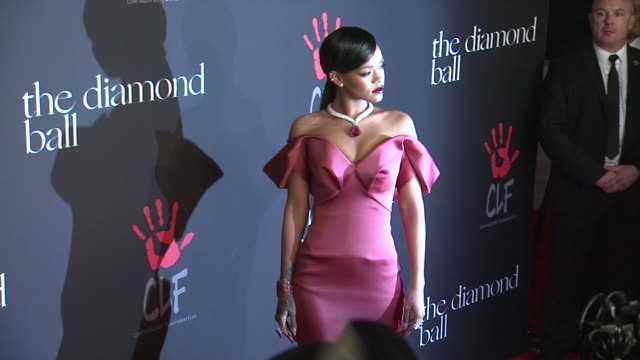 rihanna at rihanna's first annual diamond ball benefitting the clara lionel foundation at the vineyard on december 11 2014 in beverly hills california - 2014 stock videos & royalty-free footage