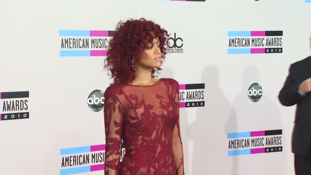 rihanna at the 2010 american music awards arrivals at los angeles ca - american music awards stock videos and b-roll footage