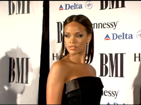 rihanna at the bmi urban awards at roseland ballroom in new york new york on august 30 2006 - 2006 stock videos & royalty-free footage