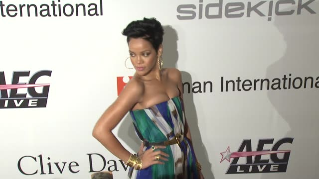 Rihanna at the PreGRAMMY Gala Salute to Industry Icons with Clive Davis at Los Angeles CA