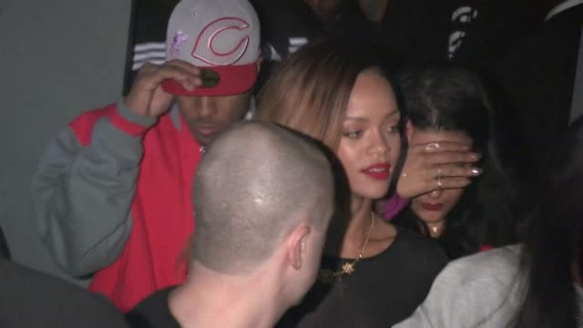 rihanna departs playhouse in hollywood 01/24/13 - playhouse stock videos and b-roll footage