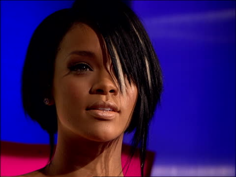 rihanna walking and posing on the 2007 vma red carpet - 2007 stock videos & royalty-free footage