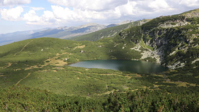 rila national park, view of one of the lakes in the national park. - bulgaria stock videos & royalty-free footage