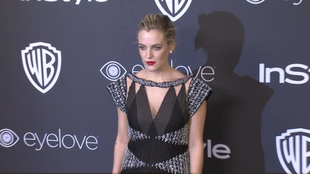 riley keough at 18th annual instyle and warner bros pictures golden globes afterparty at the beverly hilton hotel on january 08 2017 in beverly hills... - ゴールデングローブ賞点の映像素材/bロール