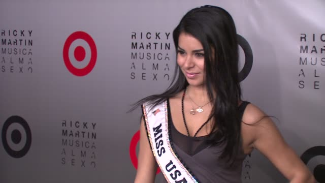 rima fakih the reigning miss usa 2010 at the target and ricky martin celebrate launch of target's exclusive deluxe version of musica alma sexo at new... - ricky martin stock videos and b-roll footage