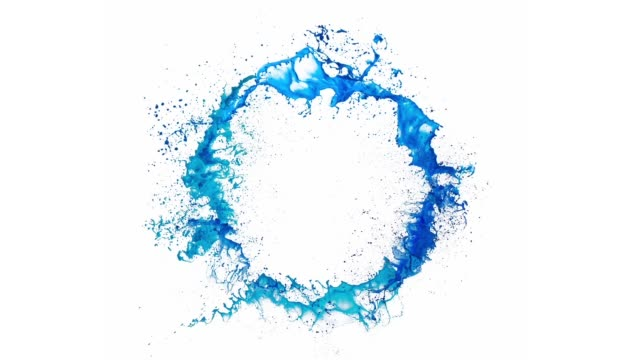ring of blue splash of paint - water splash stock videos & royalty-free footage