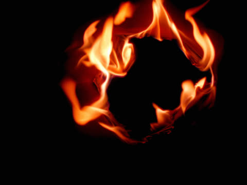 ring of fire burning outwards - mpeg videoformat stock-videos und b-roll-filmmaterial