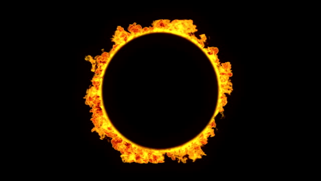 ring of fire with alpha - fire natural phenomenon stock videos and b-roll footage