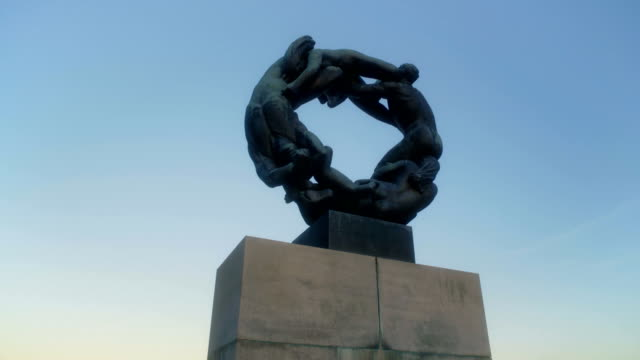 ring of life vigeland sculpture park - naked sexual intercourse stock videos & royalty-free footage