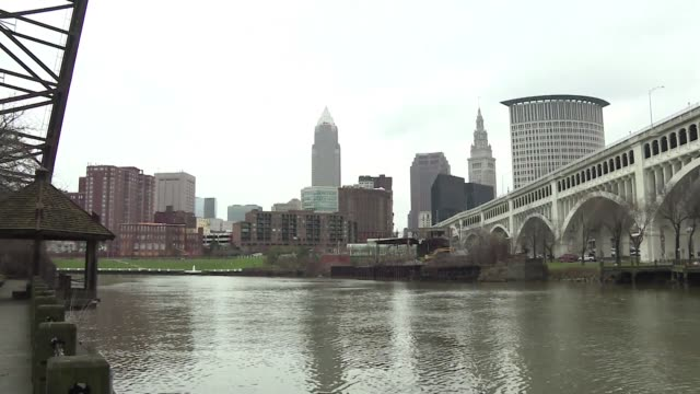 a ring of steel will descend on monday around the republican national convention transforming cleveland into a fortress as it prepares to welcome... - stahl stock-videos und b-roll-filmmaterial