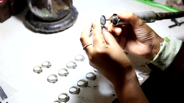 ring repairing & polishing - jewelry stock videos and b-roll footage