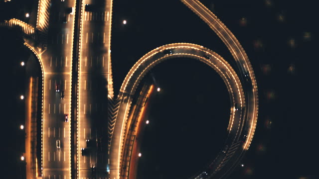 ring road at night - french overseas territory stock videos & royalty-free footage