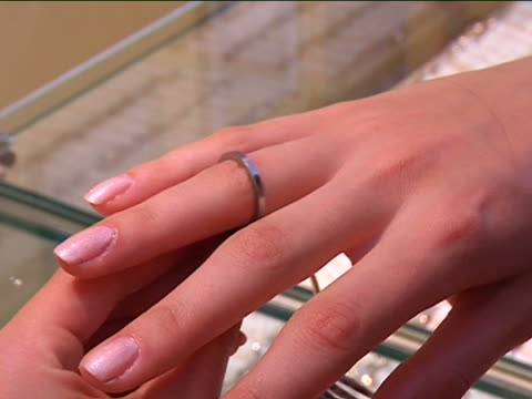 ring size selection - jewellery stock videos & royalty-free footage