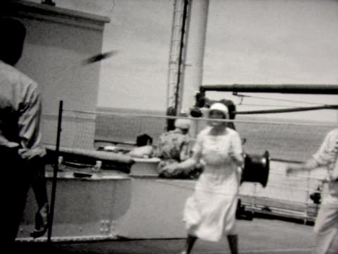 1931 ring toss aboard ss lafayette - 1931 stock videos & royalty-free footage