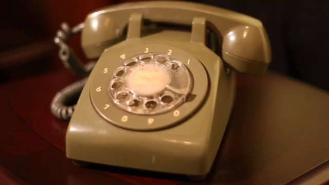 ringing retro phone - landline phone stock videos & royalty-free footage