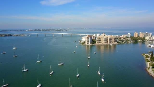 Ringling Bridge and Boats in Sarasota Florida